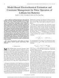 Model-Based Electrochemical Estimation and Constraint ...