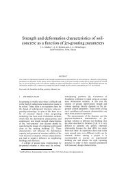 Strength and deformation characteristics of soil- concrete ... - Kivi Niria