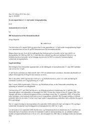 Den 28. februar 2011 blev der i sag nr. 44/2009 K ... - Revisornævnet