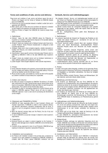 Terms and conditions of sale, service and delivery - Ionicon Analytik ...