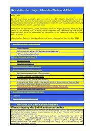 Newsletter 01 / 2010 - Junge Liberale Hessen