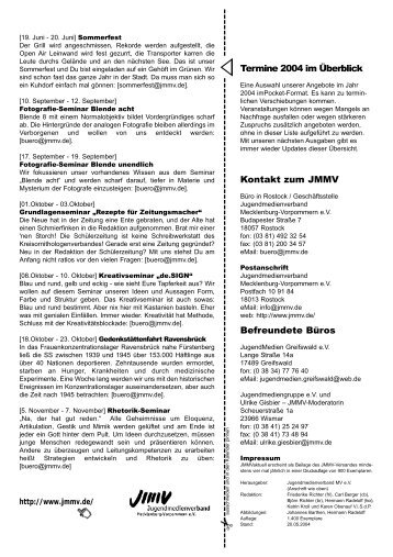mai.04 - Jugendmedienverband Mecklenburg Vorpommern  eV