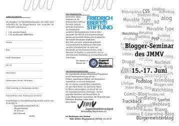 2007 Blogger.pdf - Jugendmedienverband Mecklenburg ...
