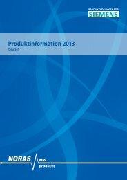 NORAS Produktinformation 2013 für Siemens, Stand Mai