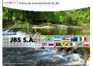 Política de Sustentabilidade JBS