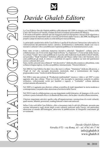 2010-06 pagine a seguire - Davide Ghaleb Editore