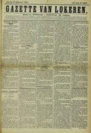 Zondag 17 Februari 1901. 58Â« Jaar N* 2952. Bureel en Werkhuizen ...