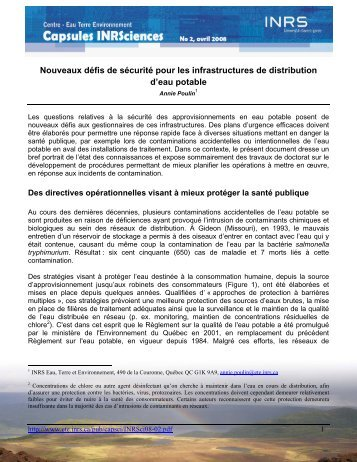 Nouveaux défis de sécurité pour les infrastructures de distribution d ...