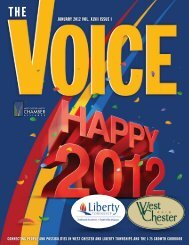 january 2012 vol. xlvii issue i - West Chester Liberty Chamber Alliance