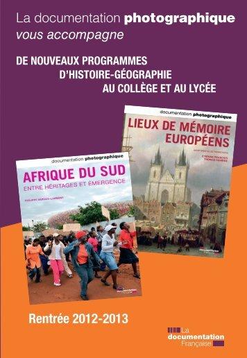 Le catalogue - Histoire, Géographie, Education civique