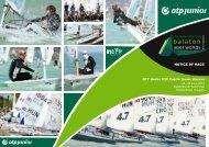 NOTICE OF RACE - Balaton Laser Worlds 2013