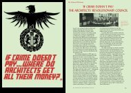If Crime Doesn't Pay: The Architect's Revolutionary Council