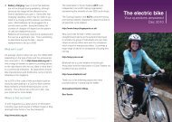 The electric bike - Moving Somerset Forward