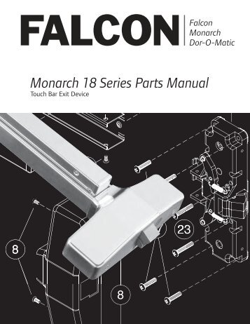 Monarch 18 Series Parts Manual - Security Technologies