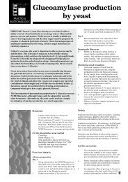 Glucoamylase production by yeast - National Centre for ...