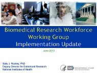 Biomedical Workforce - National Institutes of Health