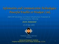 Information and Communication Technologies - ceage - Virginia Tech