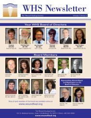 Wound Healing Society Newsletter Volume 3 Issue 2