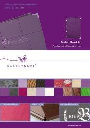 Neuheiten 2013 für die Gastronomie als pdf-Datei - Gastrokart