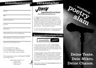 Bühne frei für den Poetry Slam - Jugendmedienverband ...
