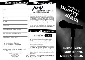 Bühne frei für den Poetry Slam - Jugendmedienverband ...