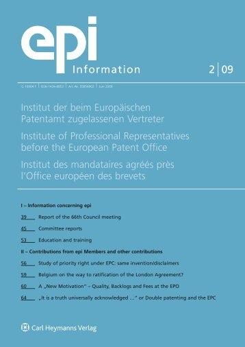 epi Information 2/2009