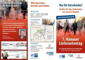 7. Hanauer Lieferantentag