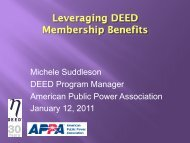 Michele Suddleson Presentation - American Public Power Association