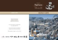 HEINO CAFÉ - Kurhaus Hotel Bad Münstereifel