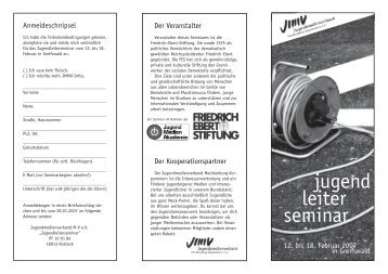 2007 Juleise.pdf - Jugendmedienverband Mecklenburg ...