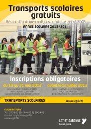 transports scolaires gratuits - Le site du conseil général du Lot-et ...