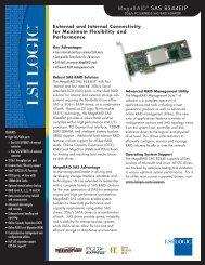 MegaRAID SAS 8344ELP Product Brief - Computerworld