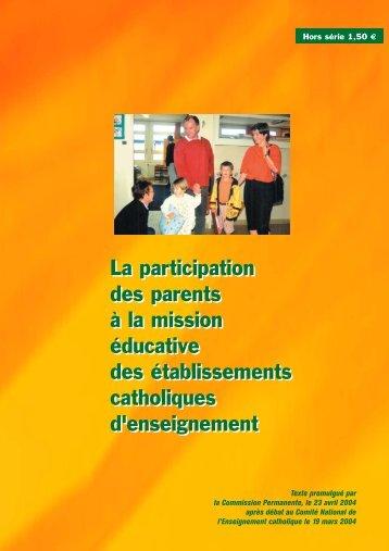 La participation des parents à la mission éducative - ECA ...