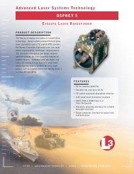 Advanced Laser Systems Technology OSPREY 5 - L-3 ...