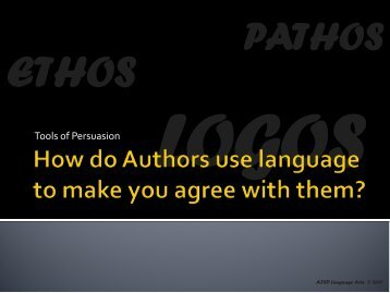 How Author's Use Language to Persuade and Influence Readers