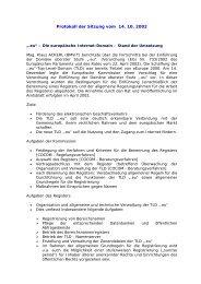 Protokoll der Sitzung vom 14. 10. 2002 - Bundeskanzleramt Österreich