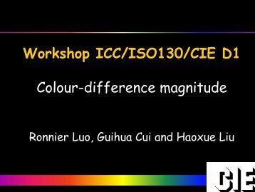 Colour-difference magnitude