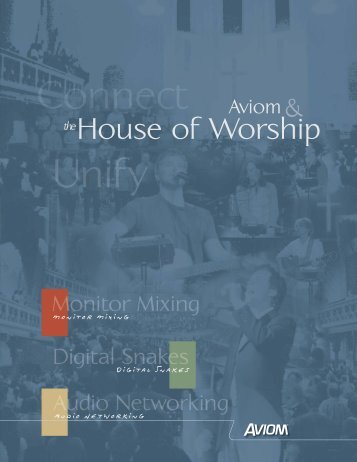 Aviom and the House of Worship - Northern Sound & Light