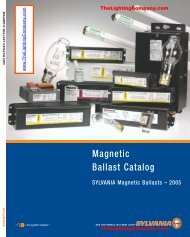 Magnetic Ballast Catalog - The Lighting Company