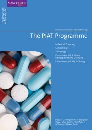 The PIAT Programme - contentlibrary - The University of Manchester