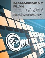 Annual Management Plan FY 2013 - Omnitrans