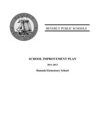 School Improvement Plan (SIP) - Beverly Public Schools