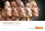 BLUM Tandembox Intivo katalógus - De-Span Kft.