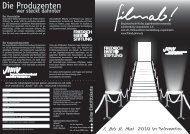 Filme - Jugendmedienverband Mecklenburg Vorpommern  eV