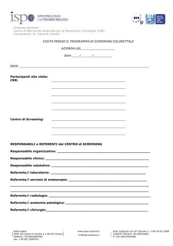 screening colon-retto - ISPO