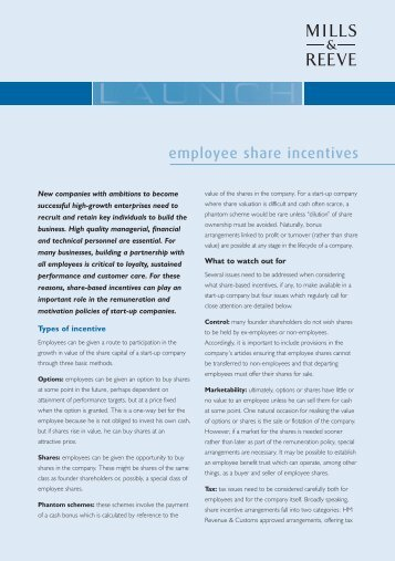 06 Employee Share Inc 3 2008 - Mills & Reeve
