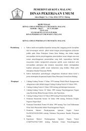 DINAS PEKERJAAN UMUM - Pemerintah Kota Malang