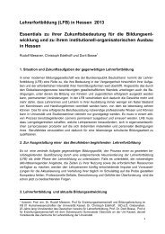 Lehrerfortbildung (LFB) in Hessen 2013 - GEW Landesverband ...