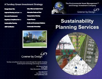 Sustainability Planning Services - Greener by Design