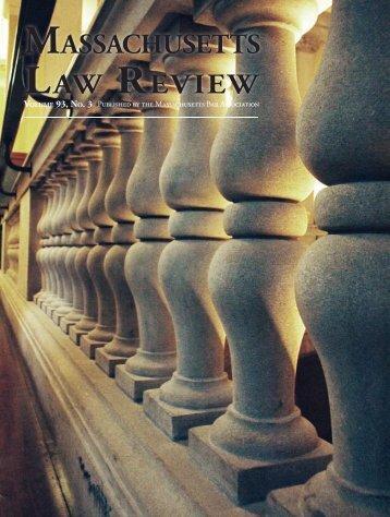 massachusetts law review - Sugarman, Rogers, Barshak & Cohen
